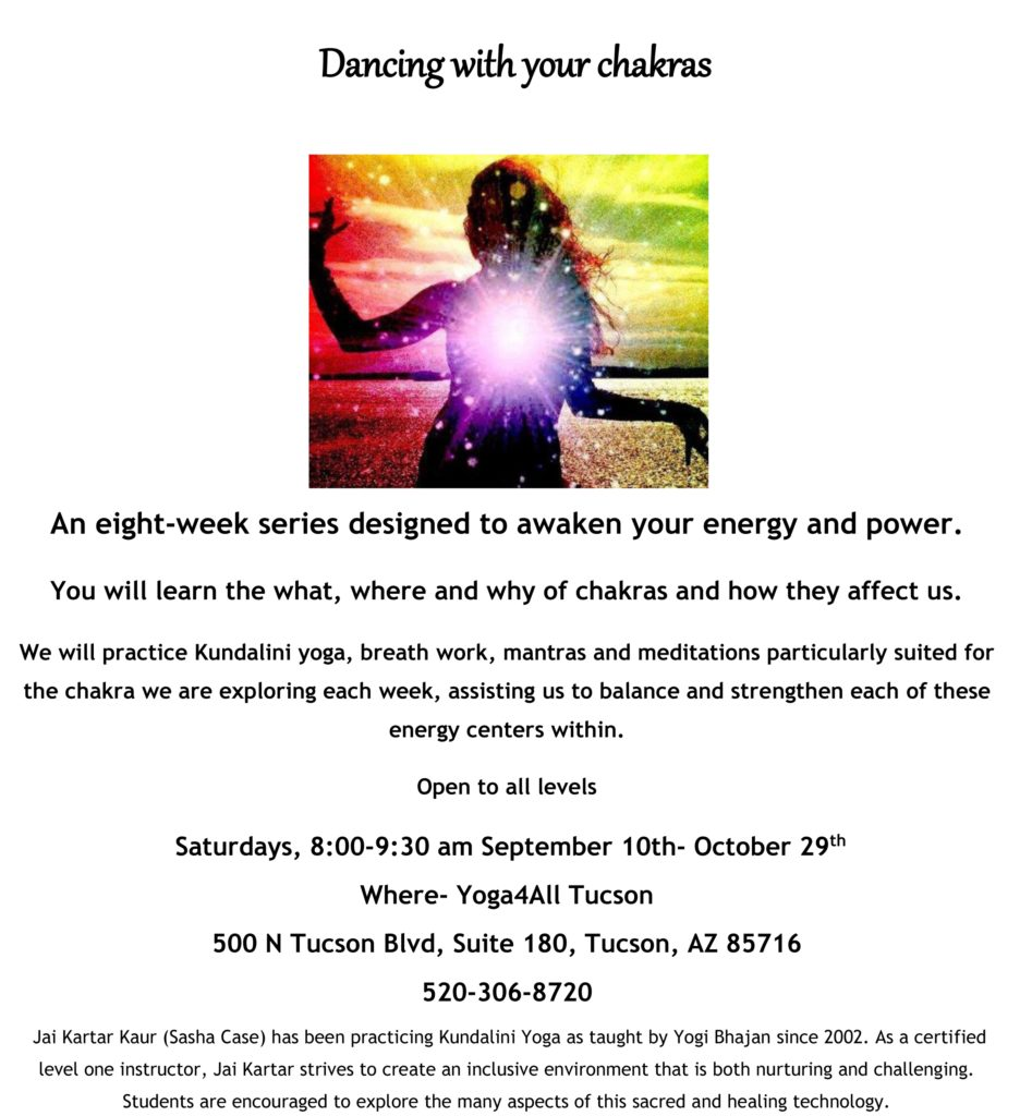 flier for eight chakras